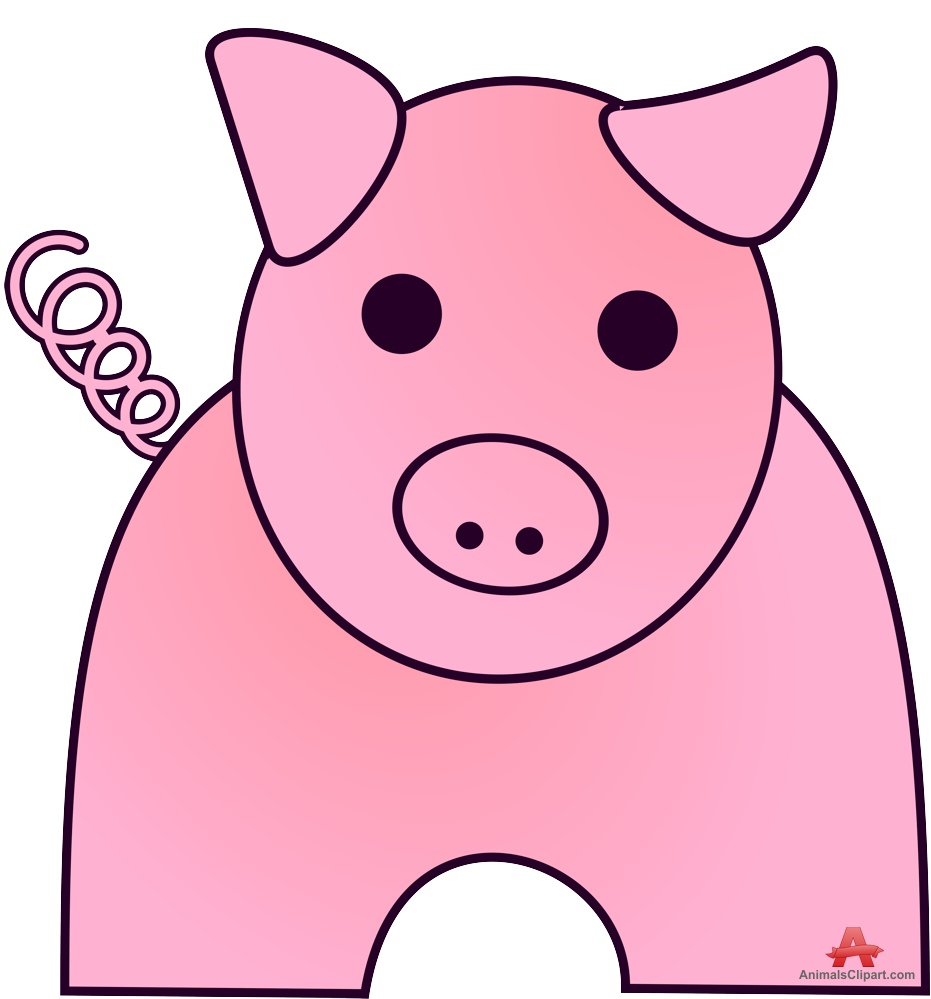Simple clipart pig #14