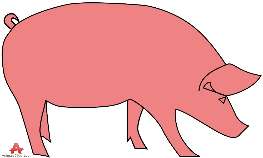 Pig clipart pink pig Clipartix download pig simple clipart