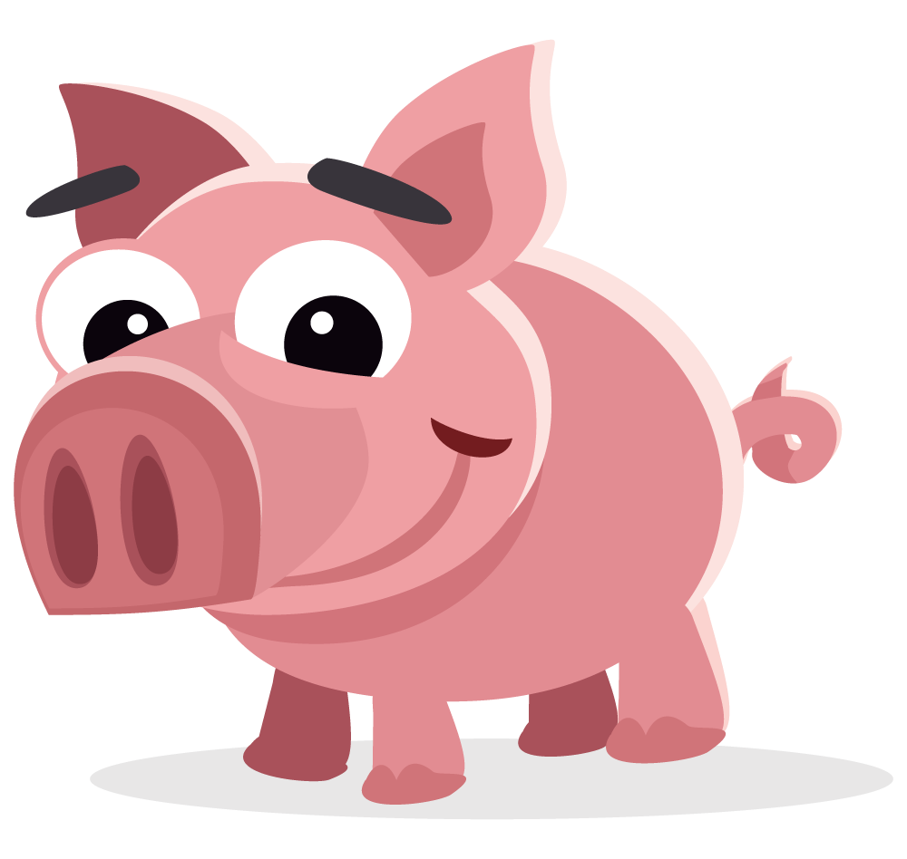 Simple clipart pig #12