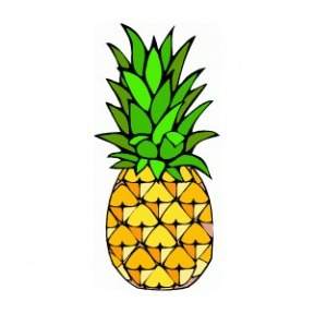 Simple clipart pineapple #11
