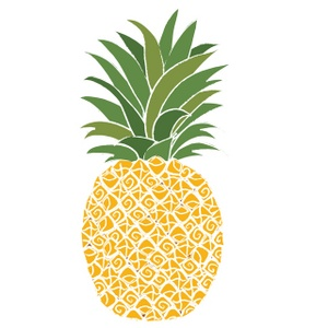 Simple clipart pineapple #13