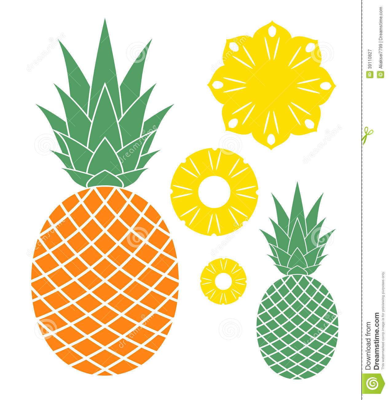 Simple clipart pineapple #15