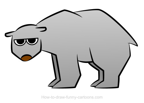 Drawn polar  bear simple Bear Polar vector) + bear