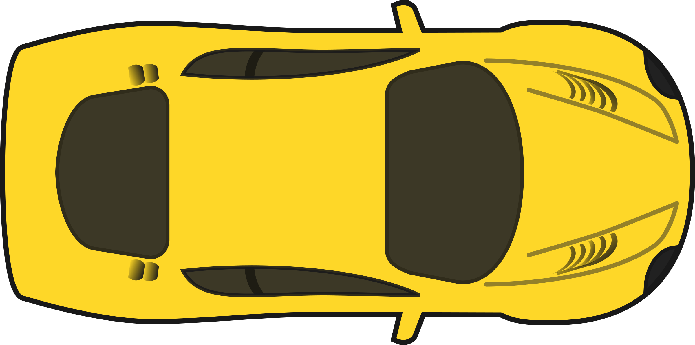 Simple clipart race car Car View) Racing Yellow Clipart