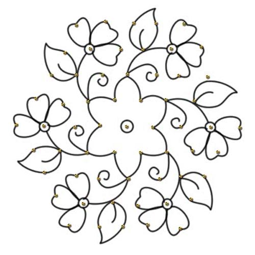 Black & White clipart rangoli Designs With And Dots Festivals