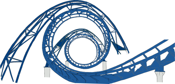 Simple clipart roller coaster Rollercoaster this vector Download com