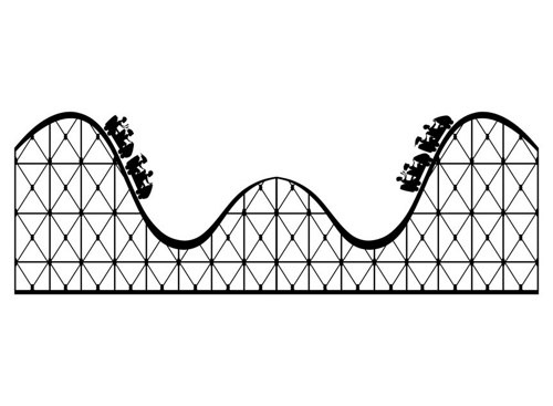 Simple clipart roller coaster Art coaster Roller loop georgiajanet