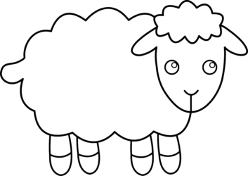 Simple clipart sheep Clipart Art ClipartWar Free Sheep
