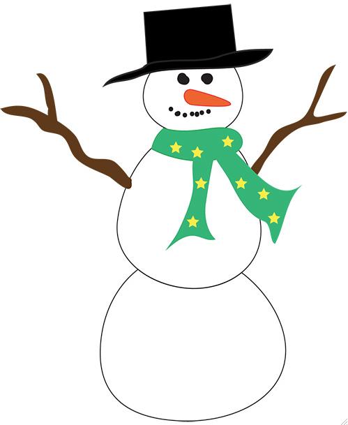 Simple clipart snowman Black Clip Cliparts Snowman Simple