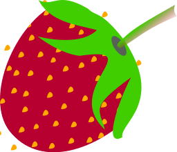 Berry clipart strawberry Download Clip Bold Strawberry Simple
