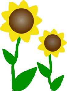 Simple clipart sunflower Sunflower vector at Simple Art