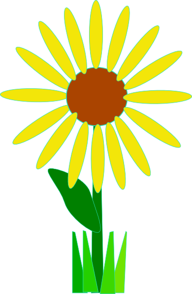 Simple clipart sunflower Clip clip Clker Yellow at