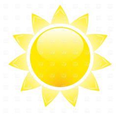 Simple clipart sunshine Public Domain clipart free