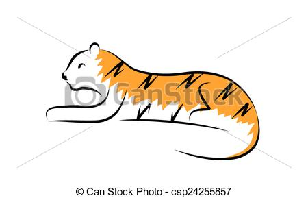Simple clipart tiger Tiger Simple illustration Tiger Clipart