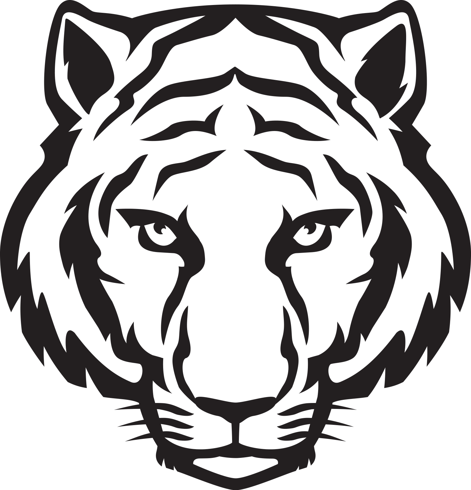 Simple clipart tiger Cliparts Cliparts Tiger Simple Tiger