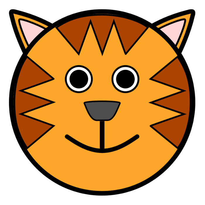 Simple clipart tiger Tiger Tiger face Clipart