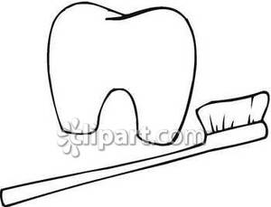 Toothbrush clipart simple #5