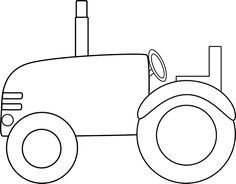 Tractor clipart black and white #3