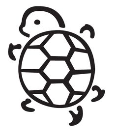Simple clipart turtle #10