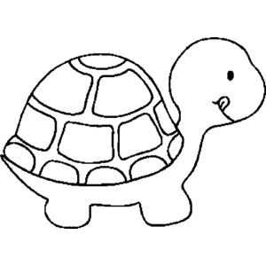 Simple clipart turtle #15