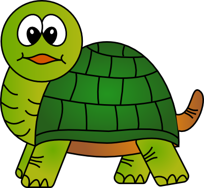 Simple clipart turtle #8