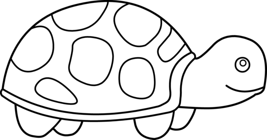 Tortoise clipart black and white #3