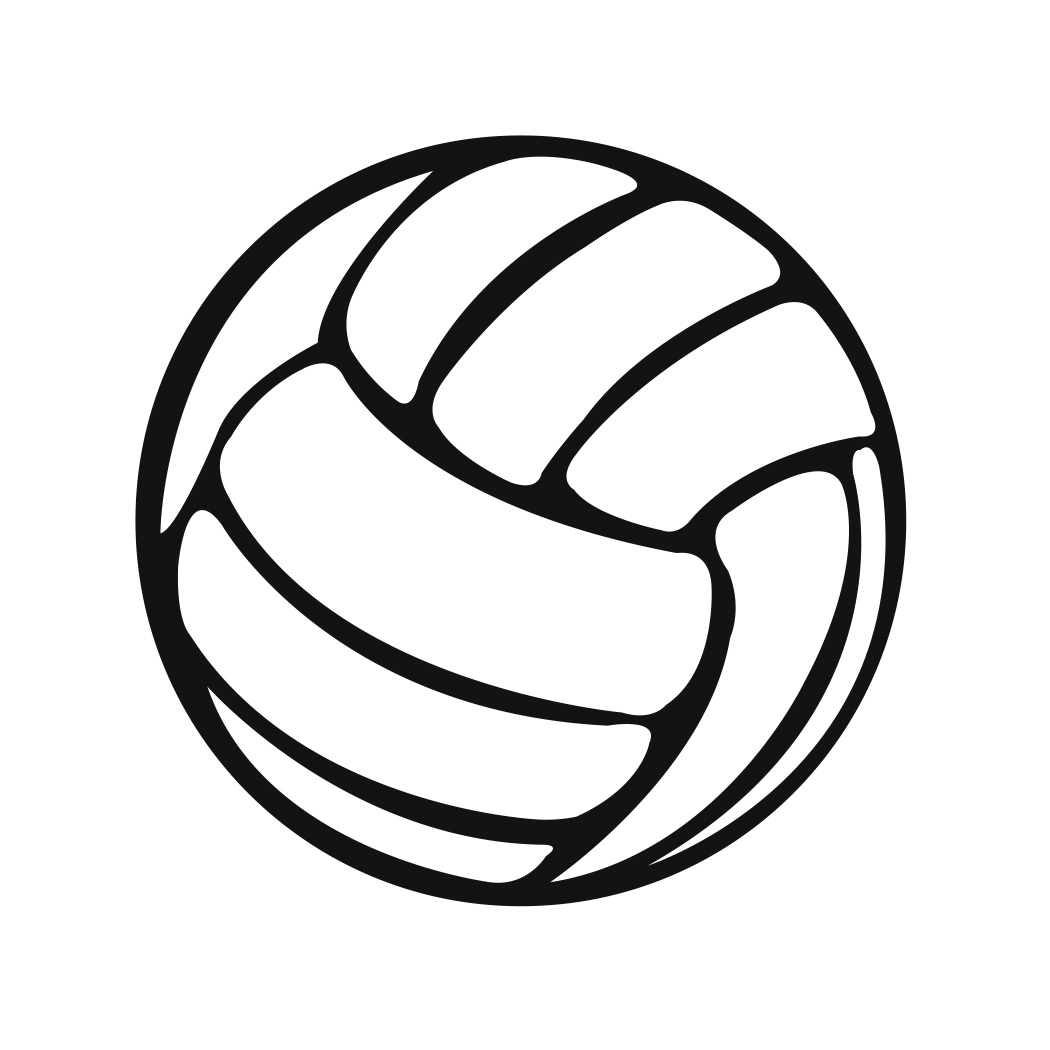 Simple clipart volleyball #13