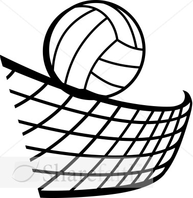 Simple clipart volleyball #10