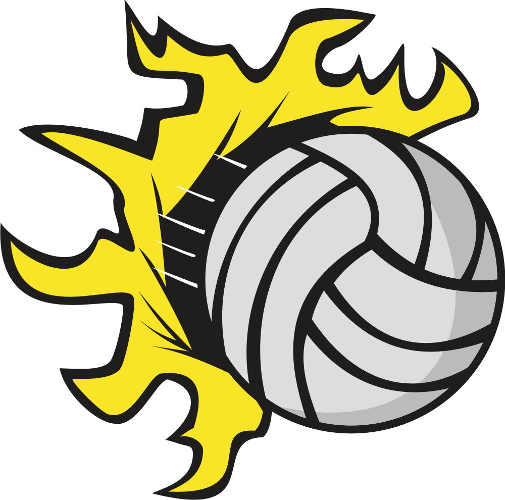 Simple clipart volleyball #14