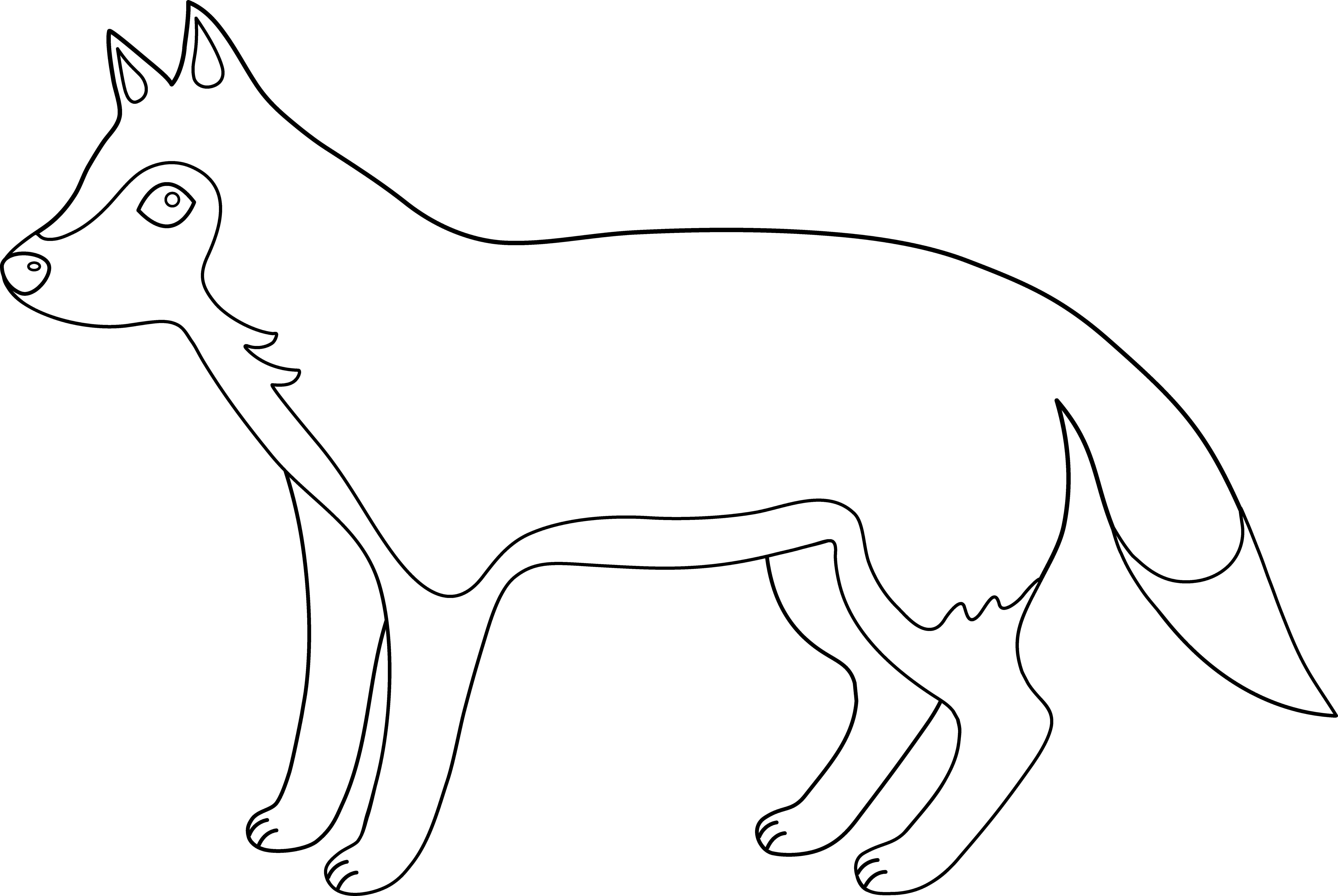 White Wolf clipart black and white Clip Free on Clipart Wolf