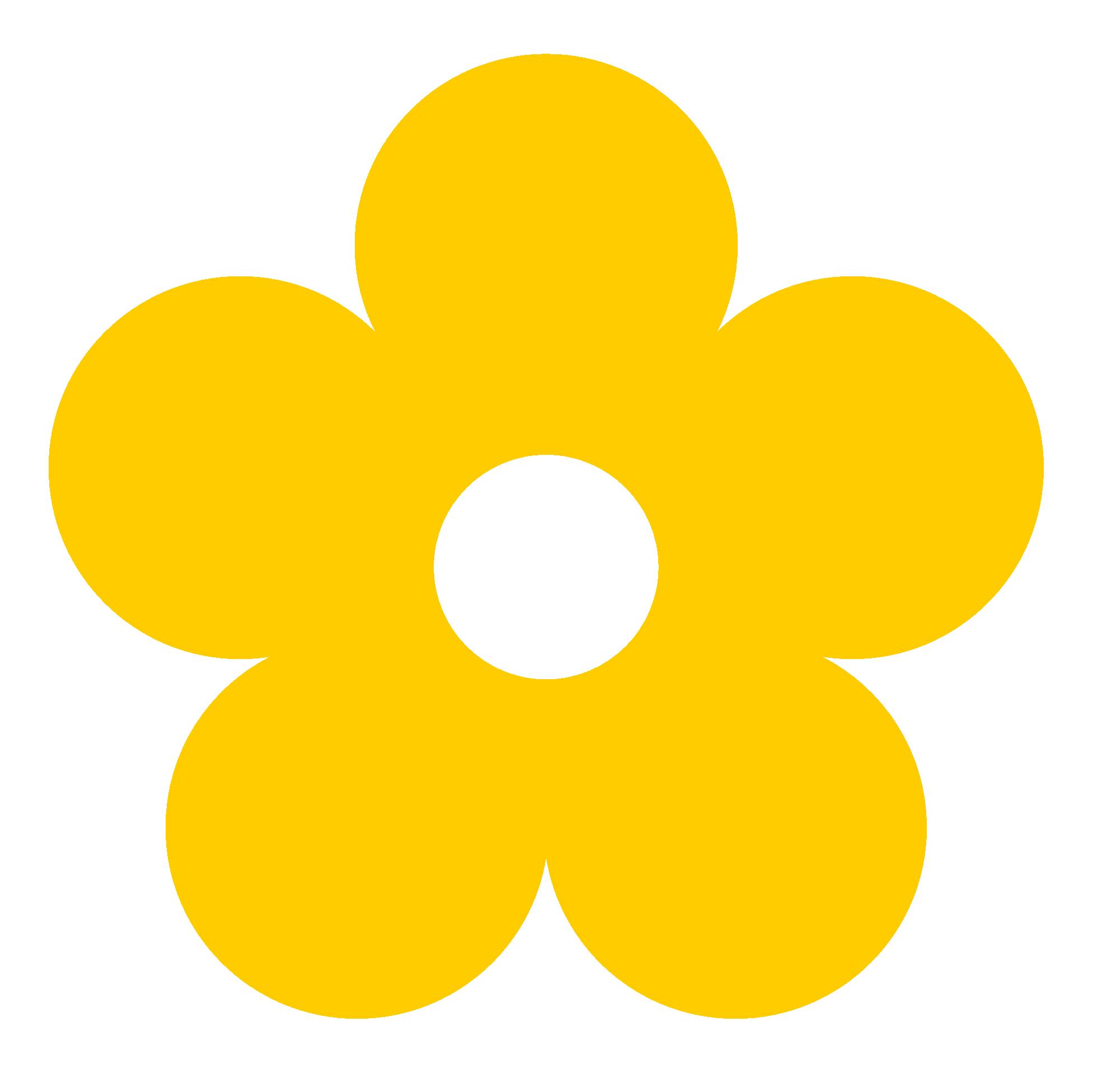 Yellow Flower clipart retro flower Art Art Clip  Art