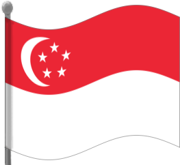 Singapore clipart Clip Download Art Flag Singapore