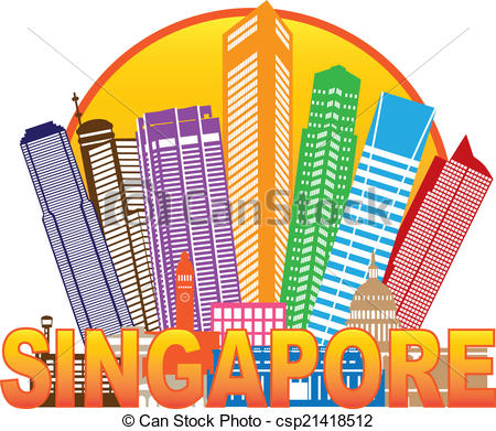 Singapore clipart Color Skyline Color  csp21418512