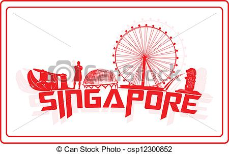 Singapore clipart Of Sinagpore and icons her