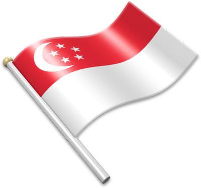 Singapore clipart A Flags waving flags clipart