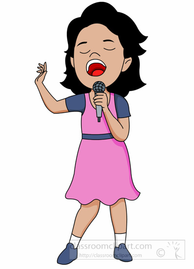 Singer clipart hobby Classroomclipart com female clipart Bing