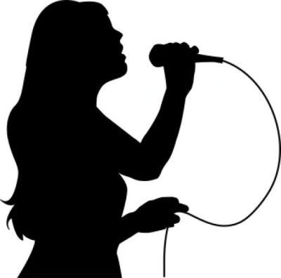 Singer clipart two  Art Singing Girl Singer