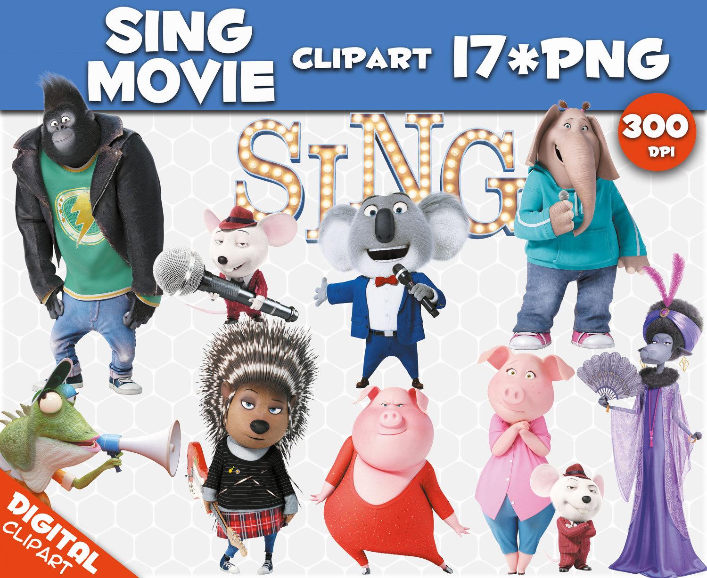 Singer clipart action Digital transparent PNG Etsy movie