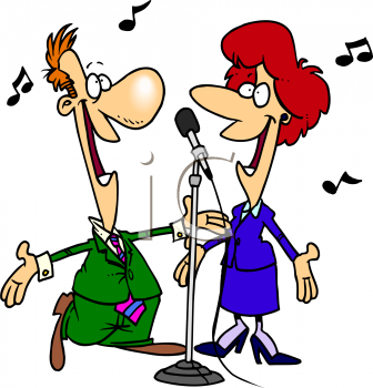 Singer clipart animated 0511 98 #4957_Cartoon_of_a_Singing_Duet_clipart_image Clipart Sing