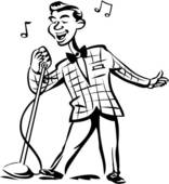 Singer clipart black and white Singing Pin Black free rf
