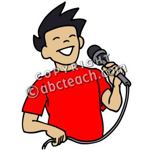 Singer clipart boy singer Free Clipart singing clipart Clipart