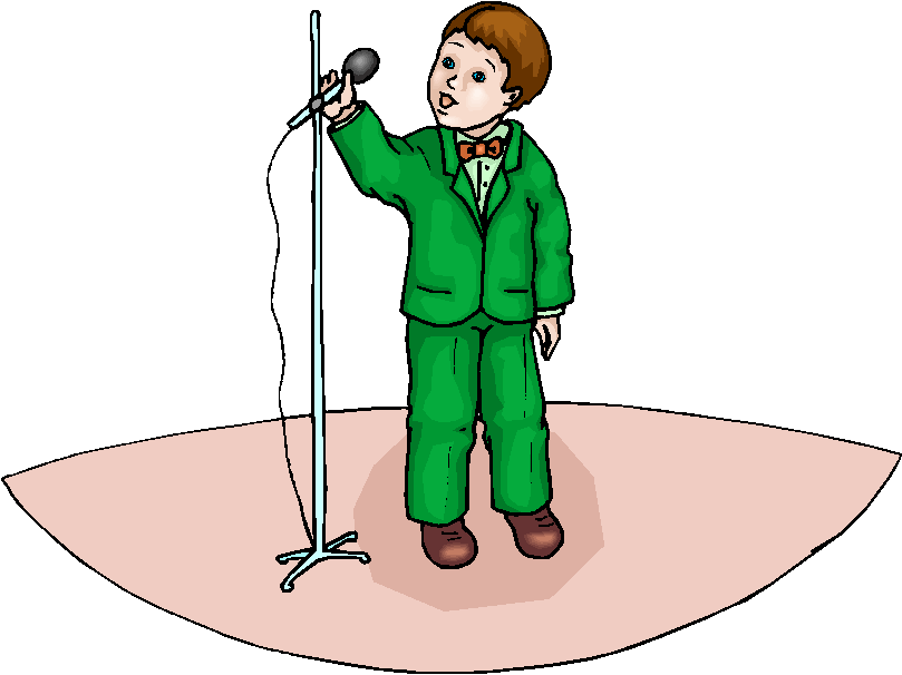 Child clipart singing song Free  Singing Clip Singer