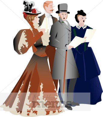 Singer clipart caroller Victorian Clipart Carolers Holiday Clipart