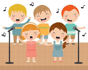 Club clipart children's choir Singing Children clipart Choir clip