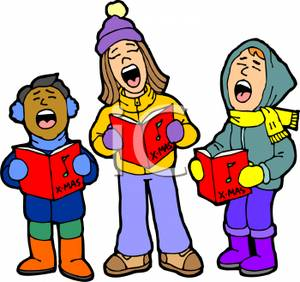 Singer clipart christmas program Carol%20clipart Clip Christmas Clipart Art