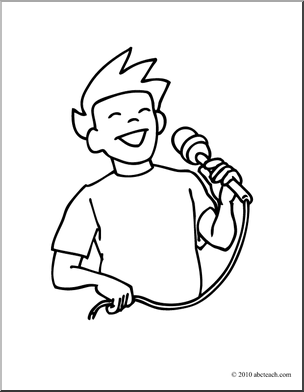 Singer clipart colouring 1 boy Pages coloring RedCabWorcester