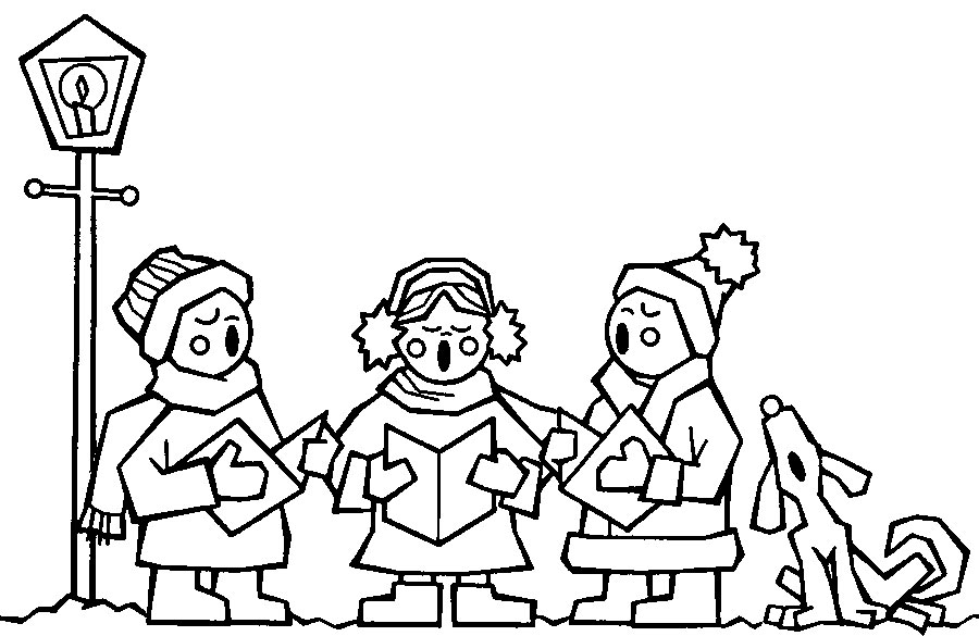 Singer clipart colouring Colouring Colouring Print To Christmas