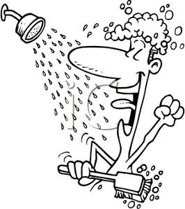 Singer clipart colouring Shower Singing of of a