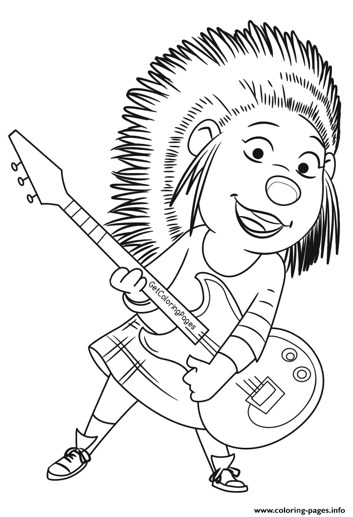 Singer clipart colouring Sing and pages Coloring Black