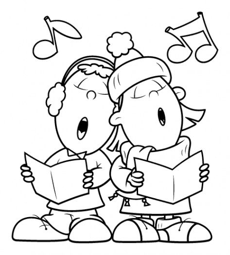 Singer clipart colouring Ausmalen Song Coloring Together pages